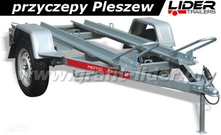 Przyczepa TM-051 MOTO 2 2011, 200x110cm, 2 rynny, DMC 750kg Tema