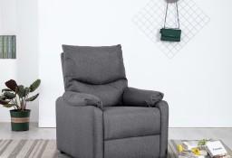 vidaXL Rozkładany fotel telewizyjny, ciemnoszary, tapicerowany tkaniną248687