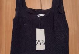 (36/S) ZARA/ Dzianinowa bluzka pod marynarkę z Madrytu/ NOWA
