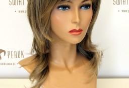 Peruka długa  z włosa syntetycznego w kolorze blondu  Opatów