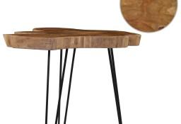 vidaXL Stolik kawowy, (60-70) x 45 cm, drewno tekowe281643