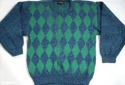 Gruby męski Ciepły sweter Włoski j Nowy S M