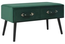 vidaXL Stolik kawowy, zielony, 80x40x46 cm, aksamitny247548