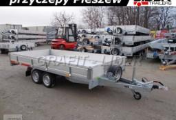 TM-195 przyczepa 410x204x30cm, Carplatform 4120S, laweta, platforma, podłoga aluminiowa, burty aluminiowe, koła 13