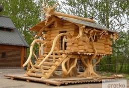 Ukraina. Domy z bala, sarmacki drewniane okna, dachy trzcinowe. Tanio
