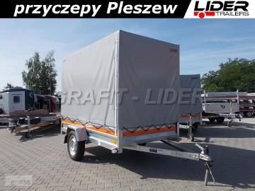 TM-163 przyczepa + plandeka 236x125x150cm, Eco 2312, lekka, jednoosiowa, niehamowana, DMC 750kg