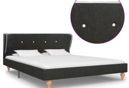 vidaXL Rama łóżka, ciemnoszara, juta, 140 x 200 cm280569