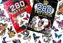 Zestaw Tatuaży Tatuaże Tymczasowe Zmywalne Tattoos 280