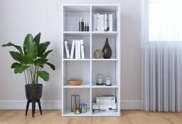 vidaXL Regał na książki/szafka, wysoki połysk, biały, 66x30x130 cm800159