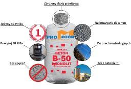 beton konstrukcyjny w workach B50, B30,B25,B20