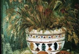 Kwiaty w wazonie z dynią