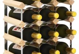 vidaXL Stojak na 12 butelek wina, lite drewno sosnowe282468