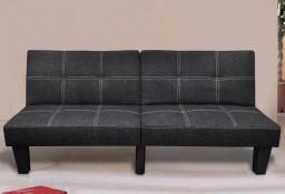 vidaXL Wersalka rozkładana, materiałowa, czarna 240782