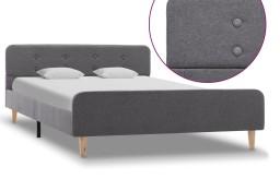 vidaXL Rama łóżka, jasnoszara, tapicerowana tkaniną, 140 x 200 cm 284903