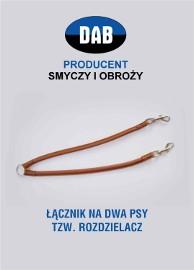 ŁĄCZNIK (ROZDZIELACZ) SKÓRA NA DWA PSY-GRATIS WYSYŁKA-RĘKODZIEŁO !!!