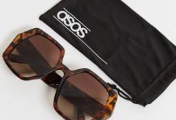ASOS/ Duże okulary przeciwsłoneczne + etui/ muchy z Londynu/ NOWE