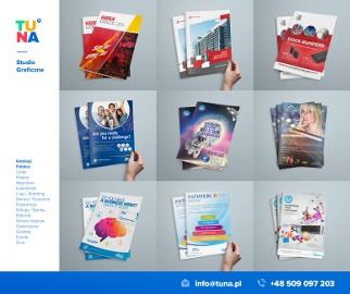 broszura reklamowa, projekt broszurki, skład dtp broszur reklamowych, projekt folderu, druk katalogów, TUNA studio graficzne