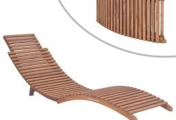vidaXL Składany leżak, lite drewno tekowe 44666