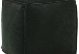 vidaXL Puf, aksamit bawełniany, 40 x 40 x 40 cm, zielony leśny284028