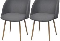vidaXL Krzesła stołowe, 2 szt., ciemnoszare, tkanina243014