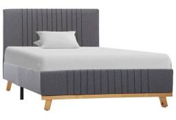 vidaXL Rama łóżka, jasnoszara, tkanina, 90 x 200 cm 286625