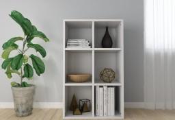 vidaXL Regał na książki/szafka, wysoki połysk, biały, 66x30x97,8 cm800348