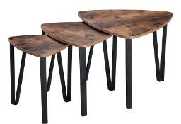 Zestaw 3 stolików kawowych Loft, industrialny, rustykalny 3w1