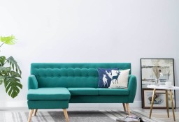 vidaXL Sofa z leżanką, obita tkaniną, 171,5 x 138 x 81,5 cm, zielona247023