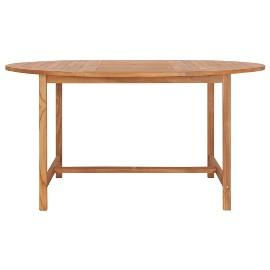 vidaXL Stół ogrodowy, 150x76 cm, lite drewno tekowe49007