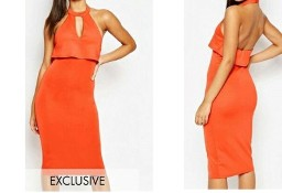 (38/M) Firmowa, pomarańczowa sukienka ołówkowa z Londynu/ NOWA