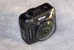 Kamera sportowa Nikon 360 KeyMission 4K WiFi NFC, niewiele używana + gratis
