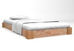 vidaXL Rama łóżka z litego drewna dębowego, 120 x 200 cm 247257