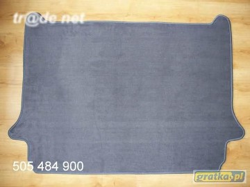 Citroen C4 Grand Picasso 5/7 siedzeń (trzeci rzad schowany) od 10.2006r. najwyższej jakości bagażnikowa mata samochodowa z grubego weluru z gumą od spodu, dedykowana Citroen C4