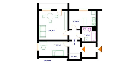 Słoneczne 2 pokoje z garderobą na Leśnej Dolinie, 52,30 m2