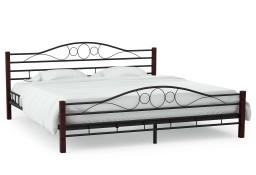 vidaXL Rama łóżka, czarna, metalowa, 180 x 200 cm 246743