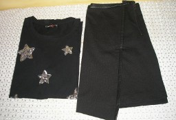 spódniczka z eco skórką Yessika, koszulka FBsister  38