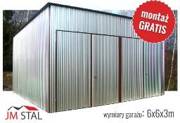 Garaż blaszany magazyn 6x6 ocynkowany - wysokość wjazdu 3m