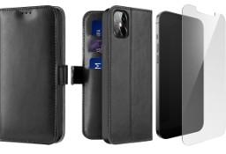 Etui Kado do iPhone 12 Pro Max czarny + szkło płaskie
