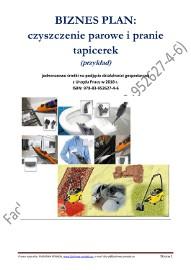BIZNESPLAN czyszczenie parowe i pranie tapicerek (przykład) 2018