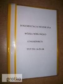 Instrukcja obsługi DTR wózka widłowego Jungheinrich TFG20AK. Cena 60 zł.