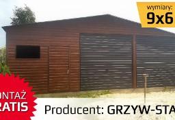 Garaż blaszak drewnopodobny dwuspadowy KONSTRUKCJA PROFIL