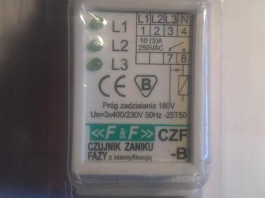 Czujnik zaniku fazy CZF-B ; producent; F&F-1