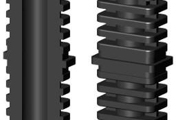 Łącznik plastikowy do profili aluminiowych typ I 50x30,czarny, składany,50x30x2