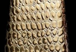Wazon ceramiczny w złotym kolorze; wysokość 12cm