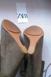 (40) ZARA/ Skórzane botki na koturnie/ koturny / 25,5cm/ skóra