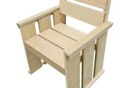 vidaXL Krzesło ogrodowe, impregnowane drewno sosnowe 44909