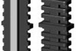 Łącznik plastikowy z rdzeniem metalowym do profili aluminiowych typ I, 40x20x2