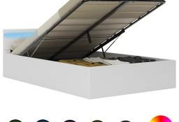 vidaXL Rama łóżka z podnośnikiem i LED, biała, ekoskóra, 140 x 200 cm285549