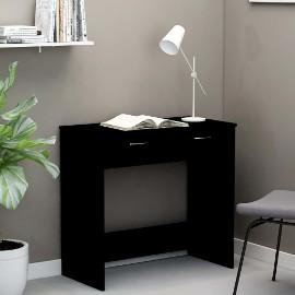 vidaXL Biurko, czarne, 80x40x75 cm, płyta wiórowa801356
