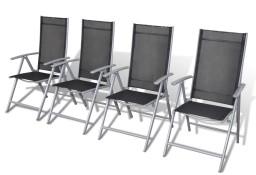 vidaXL Składane krzesła ogrodowe, 4 szt., aluminium 40792